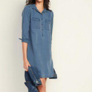 Old Navy Faded twill denim shirt dress - XS